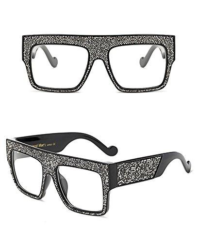 con de para Dim Clear de Gray de Clear Gray estrellas unisex Gafas sol Dim tamaño gran diseño Aprigy hombre 6wIRP8qxP