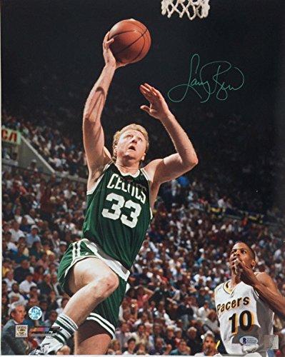 Signed Larry Bird Photograph - 16x20 Beckett witness holo 0130 - Beckett Authentication - Autographed NBA ()