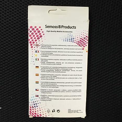 Semoss Pommeau Levier Vitesse 5 Universel Mat/ériel:ABS et Chrome Noir