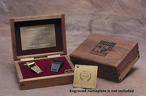 24K Gold Finished Classic Award Whistle with Safe-T-Tip in Walnut Gift Box. Made in the USA!