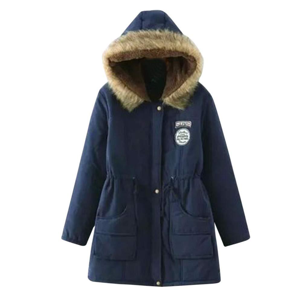 Amazon.com: DICPOLIA Womens Winter Warm Long Coat Jackets ...