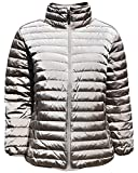 Sportcaster Women's Plus Size Packable Down Jacket (2X, Bronze)