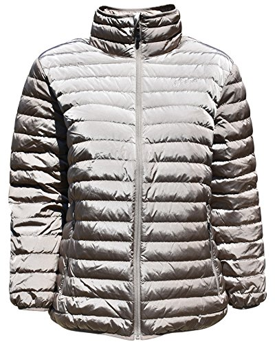 Sportcaster Women's Plus Size Packable Down Jacket (2X, Bronze) by SportCaster
