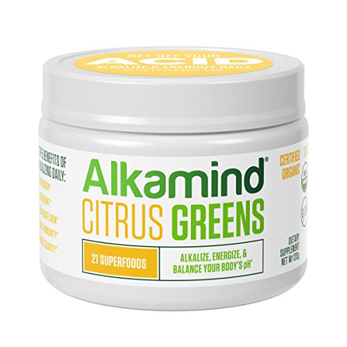 Alkamind Daily Greens - GET Off Your Acid with 21 Superfoods to Alkalize & Energize & Balance pH (DailyGreenCitrus)