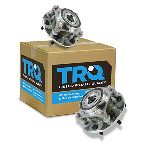 TRQ Front Wheel Hub Bearing Assembly Driver Passenger Pair for Tacoma 4Runner FJ