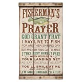 Open Road Brands Fisherman's Prayer Wood Wall Art For Sale