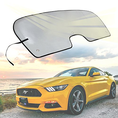 - Opall Custom Fit Automotive Reflective WindShield Sunshade for Ford Mustang 2015-2018 (Silver)