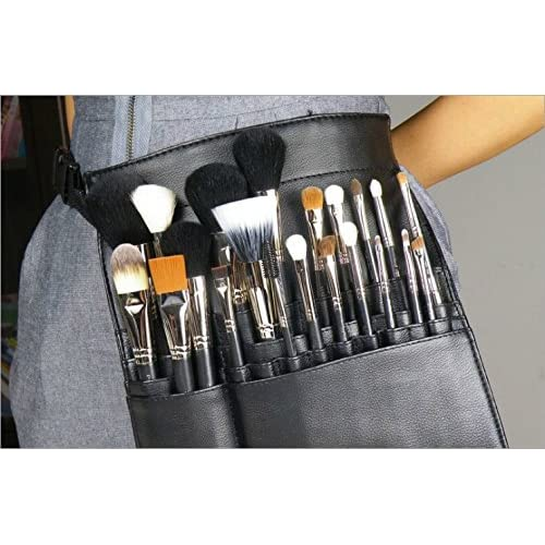 22 Poches PVC Pochette de pinceaux Maquillage Cosmétique Professionnelle Tablier Sac à Ceinture pour Artiste