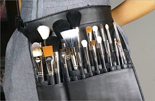 Artist 22 Pockets Professional Cosmetic Makeup Brush Bag with Artist Belt Strap (CM0109)