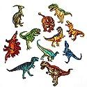 アップアップ(upup) DIY大人気アイロン接着刺繍 アップリケ恐竜 大集合ワッペン11 種類1セット …