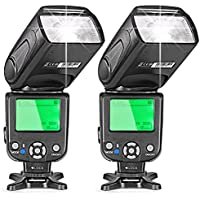 Neewer Two E-TTL Flash Speedlite for Canon DSLR Camera Such as 5D Mark II 5D Mark III 700D 650D 600D 1100D 550D 500D 100D 6D(NW-562)