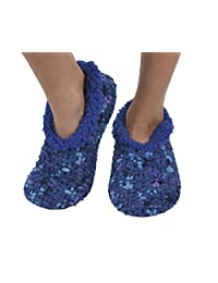 Womens Chenille Knit Slippers with Cozy Dyed Fleece Snoozies