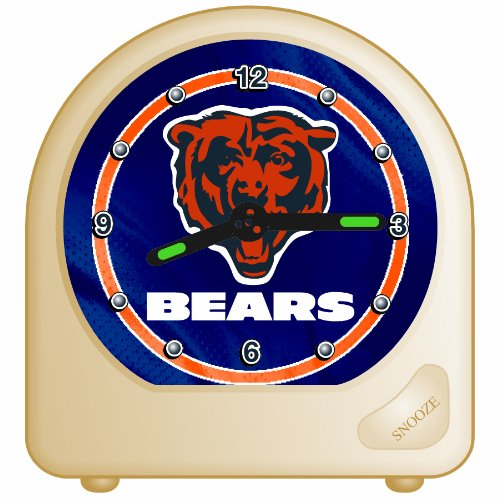 Desk Bear Clock (WinCraft NFL Chicago Bears Desk Clock, 2.75