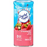 Crystal Light Drink Mix, Strawberry Kiwi, Pitcher Packets, 6 Count (Pack of 12 Canisters)
