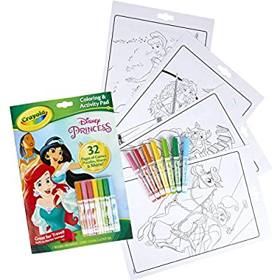 Crayola Disney Princess Coloring and Activity Book with Markers, Packaging may vary: Toys & Games