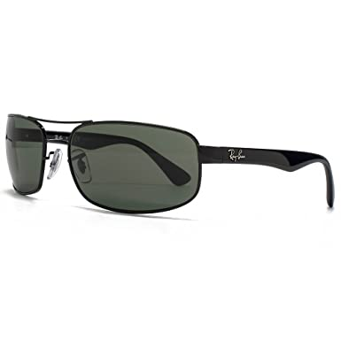 Ray-Ban Rectángulo de metal gafas de sol verde de cristal ...