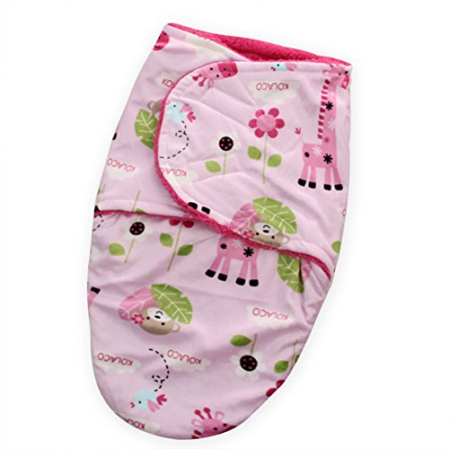 Swaddle Clothes, Adjustable Newborn Baby Wrap Set, 1 Pack Soft Coral Fleece Sleepsack, Swaddling Blanket - Microfleece Adjustable Infant Wrap