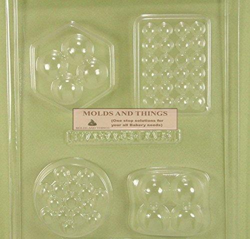 4 SHAPE MASSAGE BAR chocolate candy mold with Copywrited molding Instructions