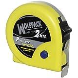 Wolfpack 2300540 - Flexometro magnético con freno, 2 metros/13 mm, amarillo