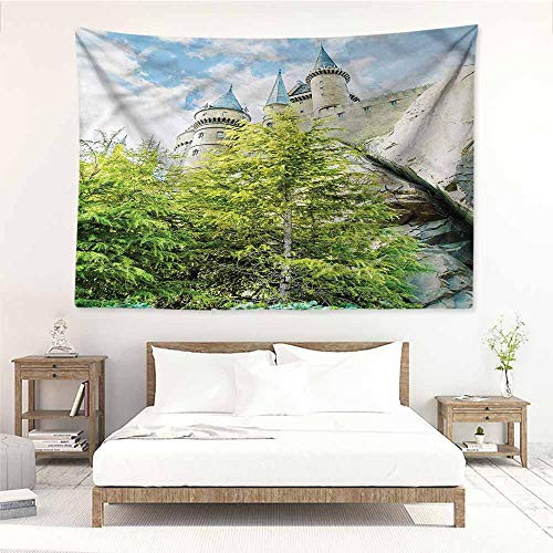 Sunnyhome Decorative Tapestry,Wizard Witchcraft Castle Japan,Tapestry for Home Decor,W60x40L