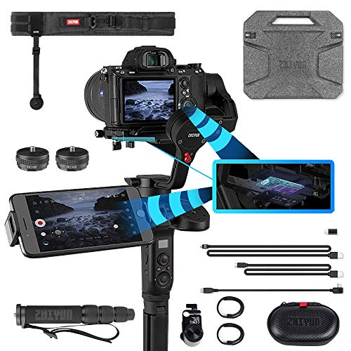 (Zhiyun WEEBILL LAB Handheld Stabilizer Creator Package for Mirrorless Cameras, Wireless Image Transmission, ViaTouch Control System, Motion Sensor Control, POV & PhoneGo Mode)