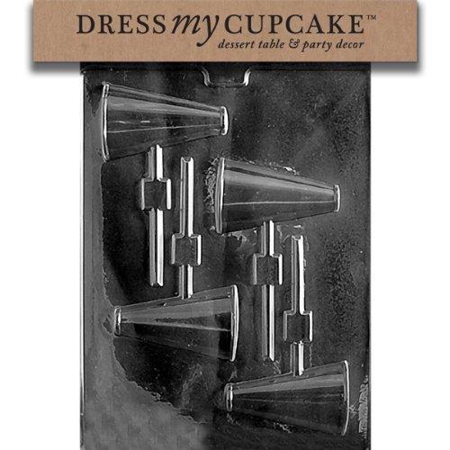 Dress My Cupcake DMCS020SET Chocolate Candy Mold, Megaphone Lollipop, Set of 6