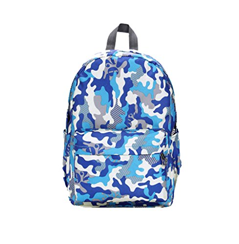 Female Backpack Casual College Wind Multicolor Camouflage Backpack Travel Bags (Blue) (Coleman Multicolor Flashlight compare prices)
