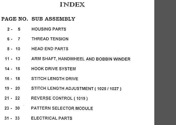 Descargar Pdf-File Singer 1019/1025/1027 Manual de usuario máquina de coser: Amazon.es: Hogar