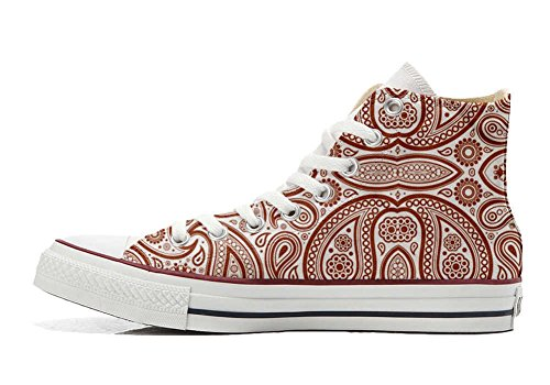 Star Converse EU artisanal produit Elegant Sneaker personnalisé All 44 chaussures Paisley Unisex Hi size coutume EqprqxC4