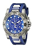 Invicta Men's 18689 Excursion Gunmetal Ion-Plated Stainless Steel Watch With Blue Faux-Rubber Band