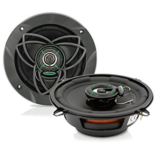 "Super Slim Two Way Speakers - Upgraded VX 5.25"" Pair 2-Way Speaker - Slim Mount Speaker System - Powerful 120 Watts 4 Ohms 30 Oz Magnet Structure w/55-20 KHz Frequency Response and 1""High-Temperature Voice Coil - Lanzar VX50S"
