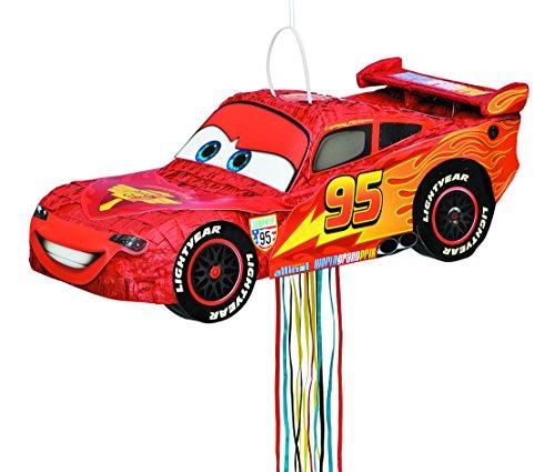 Disney Cars Lightning McQueen Pinata, Pull (Lightning Mcqueen Pinata)