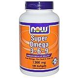omega 3 6 9 de now - Super Omega 3-6-9 1200mg 180 Softgels (Pack of 2)