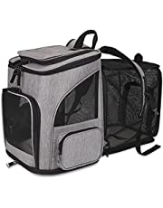 HALOVIE Pet Carrier Backpack Expandable for Small Dogs Medium Cats Under 20 LB, Mesh Breathable Foldable Puppy Travel Bags