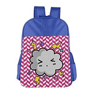 Mokjeiij Angry Cloud Unisex Girls Boys School Backpack Children's