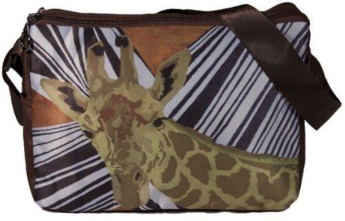 Animal Print Messenger Bag - Giraffe - From My Painting, African Spalsh