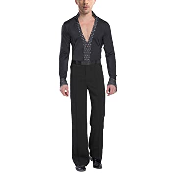 8407734df uirend Sports Latin Dancing Clothing Men - Mens Latin Ballroom Set Dance  Costume V Collar Lace