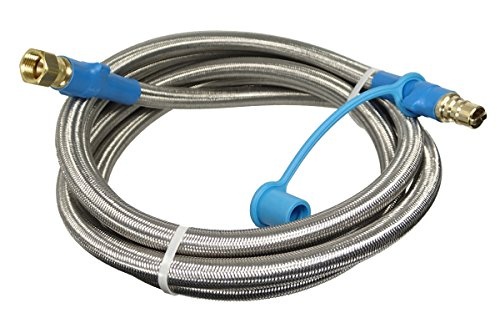 3/8' ID Stainless Steel Overbraid Quick Disconnect Gas Connector (25 Feet)