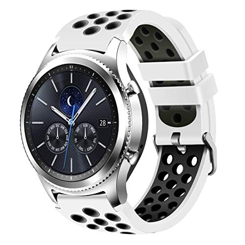 CreateGreat for Samsung Gear S3 Frontier and Classic Watch, Soft Replacement Breathable Sport Bands with Air Holes for Samsung Gear S3 Smart Watch Band