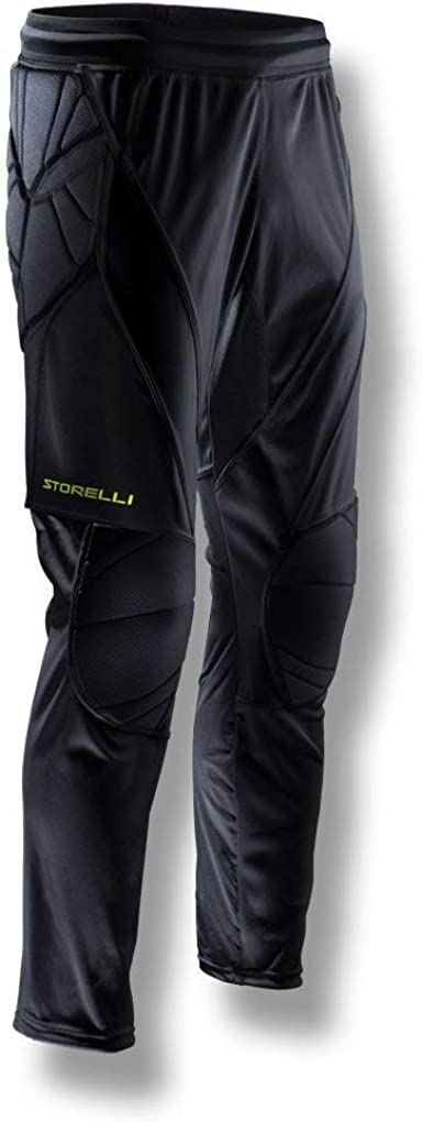Enhanced Lower Body Protection Storelli BodyShield 3//4 Goalkeeper Leggings 3//4 Length Padded Soccer Pants Black Extra Large