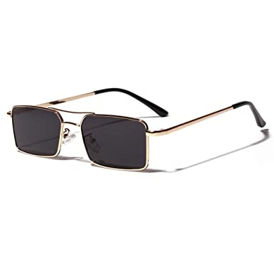 Amazon.com: Gafas de sol de moda cuadradas para mujer Retro ...