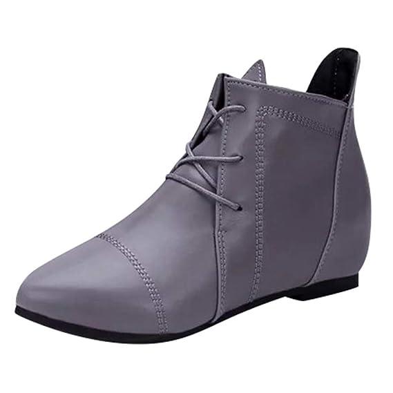 Luckycat Botines para Mujer Zapatos para Mujer PU Botas ...