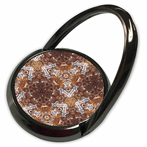 3dRose Lee Hiller Designs Kaleidoscope - Kaleidoscope Ice Stars - Phone Ring (Kaleidoscope Ice)