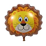 GOGO Set of 6 Zoo Animal Head Foil Balloons, Party Favor