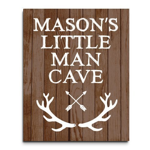 Amazon.com: Little Man Cave Paper Art Print, Boys Room Sign, Boy ...