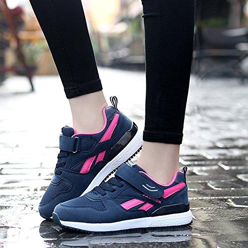 Hasag Mujer de Mediana Edad 2018 Nueva Primavera Zapatos Deportivos de Fondo Suave Antideslizante Madre Zapatos de Tela A2 dark blue