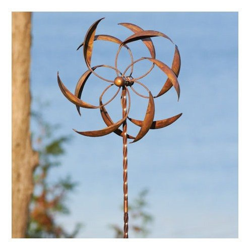 Amazon.com: Ancient Graffiti 15 Inch Staked Feather Kinetic Spinner, Large:  Garden U0026 Outdoor