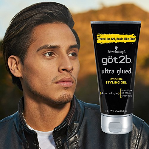 Got2b Ultra Glued Invincible Styling Hair Gel, 6 Ounce (Pack of 3) by Got2b (Image #2)