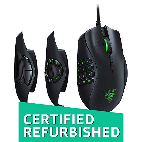 - Razer Naga Trinity - Chroma Gaming Mouse Interchangeable Side Plates - Up to 19 Programmable buttons (Renewed)