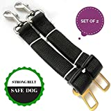 Dog Seat Belt (Set of 2 Seatbelts) - Adjustable - High Quality Durable Material. Safe Pet.